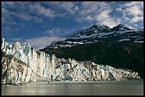 Lamplugh glacier and Mt Cooper, late afternoon. Glacier Bay National Park, Alaska, USA.