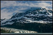 Mt Cooper and Lamplugh glacier, late afternoon. Glacier Bay National Park, Alaska, USA.