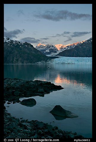 Mount Fairweather and Margerie Glacier seen across the Tarr Inlet. Glacier Bay National Park (color)