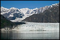 Margerie Glacier flowing from Mount Fairweather into Tarr Inlet. Glacier Bay National Park, Alaska, USA. (color)
