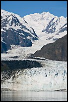 Margerie Glacier flows from Mount Fairweather, early morning. Glacier Bay National Park ( color)