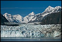 Margerie Glacier and Fairweather range. Glacier Bay National Park, Alaska, USA.