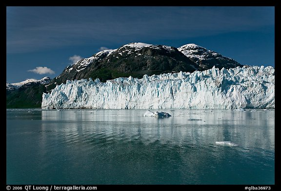 Wide front of Margerie Glacier and Tarr Inlet. Glacier Bay National Park, Alaska, USA.