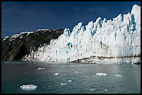 Face of Margerie Glacier on a sunny morning. Glacier Bay National Park, Alaska, USA. (color)