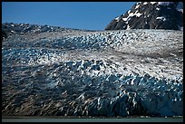 Reid Glacier. Glacier Bay National Park, Alaska, USA.