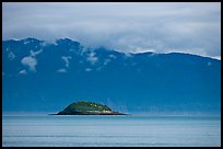 Green Island in blue seascape. Glacier Bay National Park ( color)
