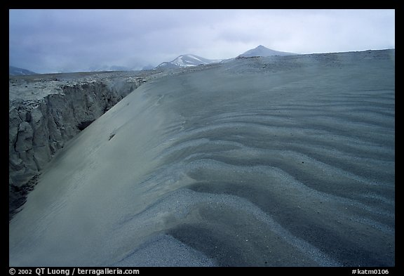 Ash dune formation, Valley of Ten Thousand smokes. Katmai National Park (color)