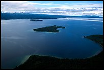 Aerial view of Naknek lake. Katmai National Park, Alaska, USA.