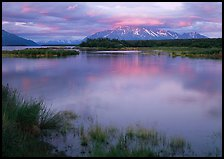 Sunset on the Brooks river. Katmai National Park, Alaska, USA.