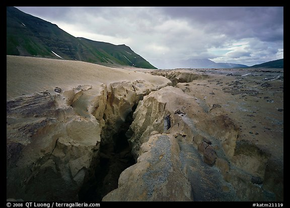 Gorge carved by Lethe River ash floor of Valley of Ten Thousand smokes. Katmai National Park (color)