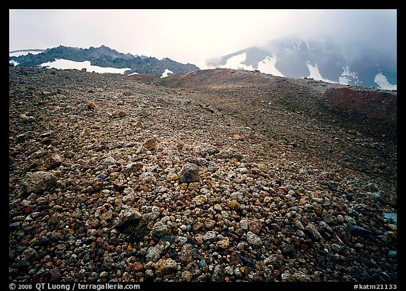 Pumice below Novarupta volcano, Valley of Ten Thousand smokes. Katmai National Park (color)