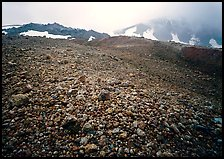 Pumice below Novarupta volcano, Valley of Ten Thousand smokes. Katmai National Park, Alaska, USA.
