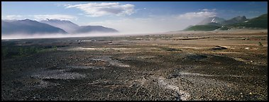 Ash-covered valley. Katmai National Park (Panoramic color)