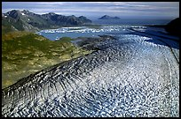 Aerial view of Bear Glacier. Kenai Fjords National Park, Alaska, USA. (color)