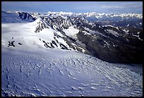 Aerial view of Aialik glacier. Kenai Fjords National Park, Alaska, USA. (color)