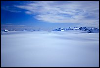 Aerial view of Harding icefield and Peaks. Kenai Fjords National Park ( color)