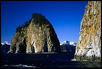 Islands in Aialik Bay. Kenai Fjords National Park, Alaska, USA.