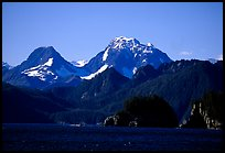 Mountains seen from Aialik Bay. Kenai Fjords National Park, Alaska, USA. (color)