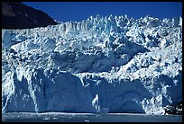 Front of Aialik Glacier. Kenai Fjords National Park, Alaska, USA. (color)