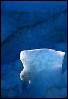 Glacial ice detail at the terminus of Exit Glacier. Kenai Fjords National Park, Alaska, USA.
