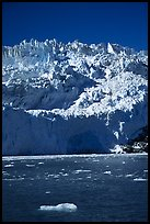 Front of Aialik Glacier, Aialik Bay. Kenai Fjords National Park, Alaska, USA.