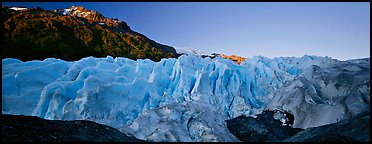 Glacier with blue ice. Kenai Fjords National Park, Alaska, USA.