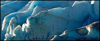 Ice fins on Exit Glacier. Kenai Fjords National Park, Alaska, USA.