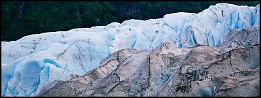 Two ice colors on Exit Glacier. Kenai Fjords National Park (Panoramic color)