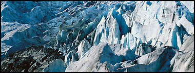 Chaotic ice forms on Exit Glacier. Kenai Fjords National Park, Alaska, USA.