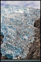 Northwestern tidewater glacier icefall, Northwestern Fjord. Kenai Fjords National Park, Alaska, USA. (color)