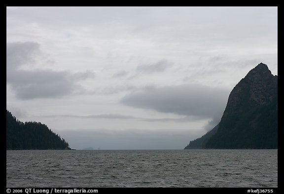 Peaks and fog. Kenai Fjords National Park, Alaska, USA.