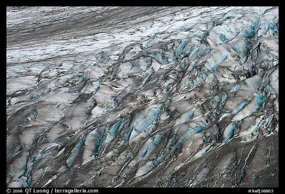 Crevassed Exit glacier section. Kenai Fjords National Park, Alaska, USA.