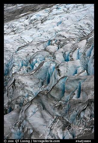 Crevasses on Exit glacier. Kenai Fjords National Park, Alaska, USA.