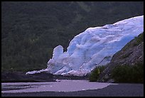Exit Glacier from glacial plain. Kenai Fjords National Park, Alaska, USA. (color)