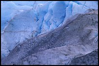 Detail of ice on Exit Glacier. Kenai Fjords National Park, Alaska, USA.