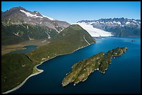 Aerial View of Slate Island and Aialik Bay. Kenai Fjords National Park ( color)