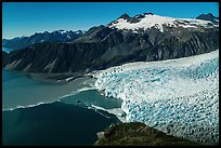 Aerial View of Aialik Glacier and mountains. Kenai Fjords National Park ( color)