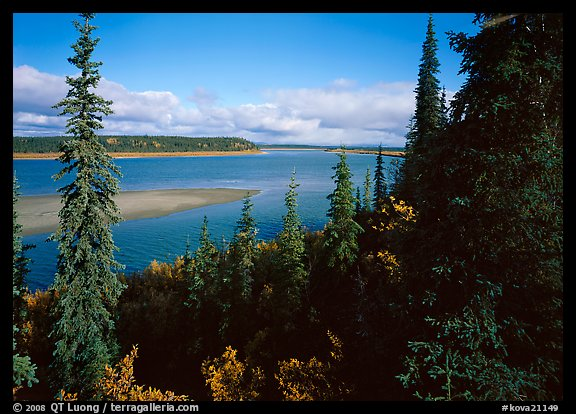 Bend of the Kobuk River, mid-morning. Kobuk Valley National Park (color)