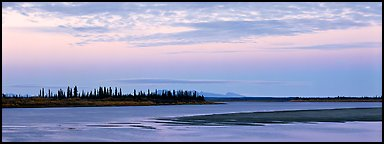 Kobuk River at dusk. Kobuk Valley National Park (Panoramic color)