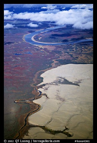 Aerial view of the Great Kobuk Sand Dunes. Kobuk Valley National Park (color)