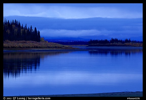 Dusk on the Kobuk River. Kobuk Valley National Park, Alaska, USA.