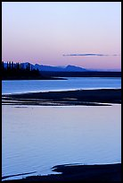 Shore, river and Baird mountains, evening. Kobuk Valley National Park, Alaska, USA. (color)