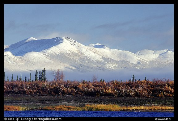 Baird mountains with a fresh dusting of snow, morning. Kobuk Valley National Park, Alaska, USA.