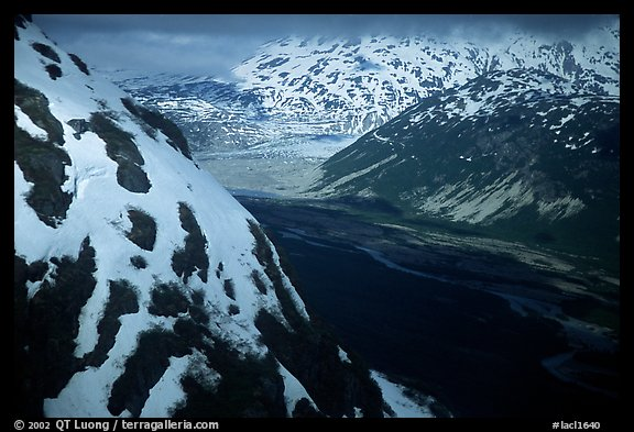 Aerial view of Tikakila River valley. Lake Clark National Park (color)