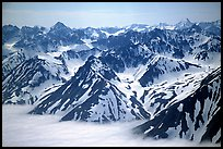 Aerial view of Chigmit Mountains. Lake Clark National Park ( color)