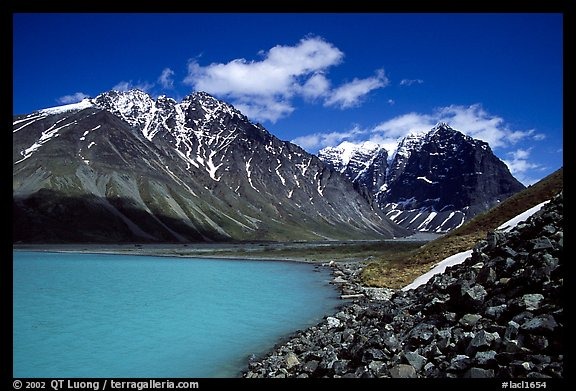 Turquoise Lake and Telaquana Mountain. Lake Clark National Park (color)