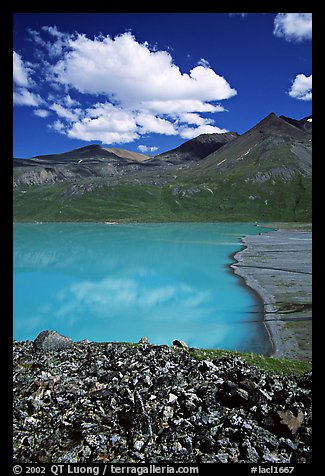 East end of Turquoise Lake. Lake Clark National Park, Alaska, USA.