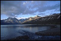 Telaquana Mountains above Turquoise Lake, sunset. Lake Clark National Park, Alaska, USA.