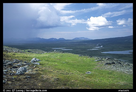 Tundra and valley with storm developping. Lake Clark National Park (color)