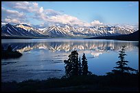 Twin Lakes, evening. Lake Clark National Park, Alaska, USA. (color)
